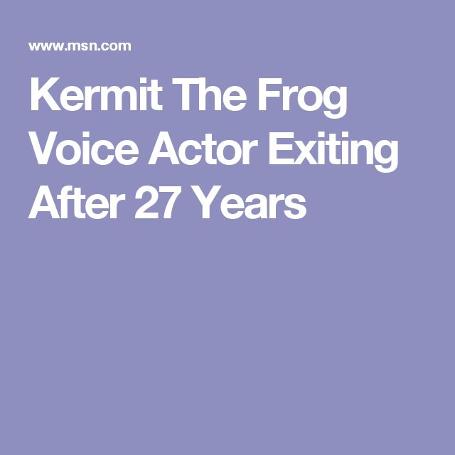 Kermit The Frog Voice Actor Exiting After 27 Years