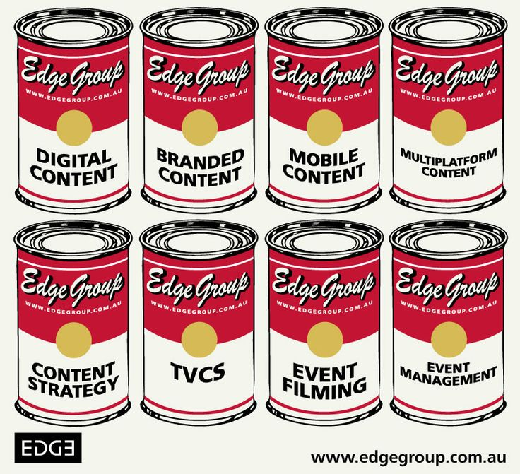 What we do, with a tip of the hat to Mr Warhol.