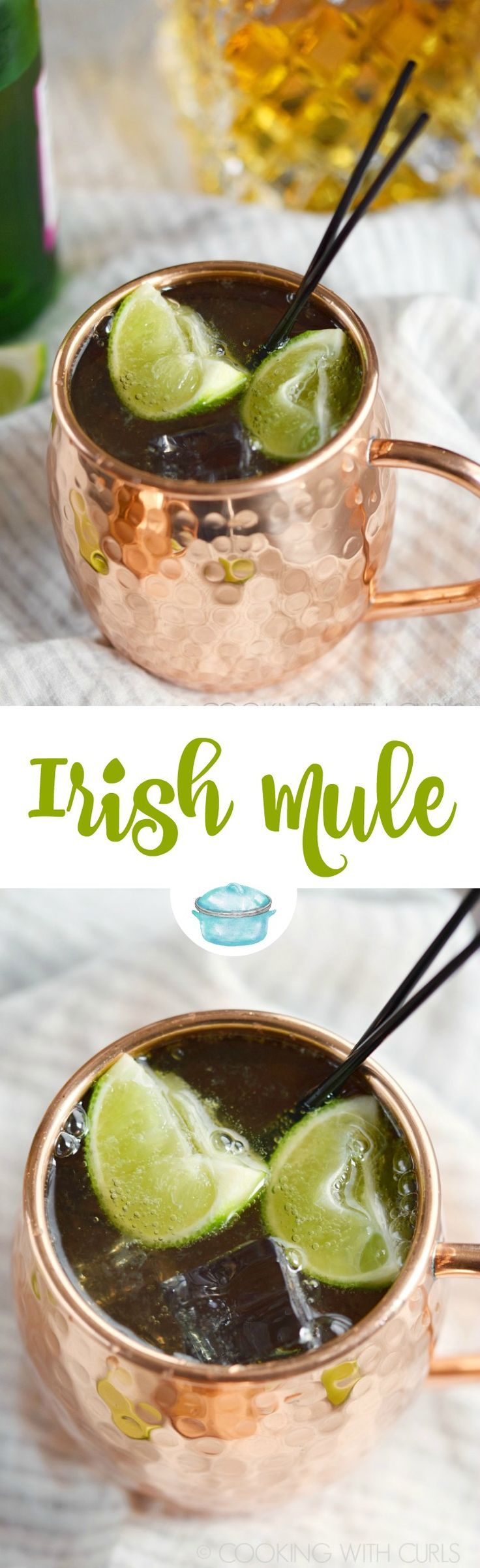 An Irish Mule cocktail is a simple and delicious way to celebrate St. Patrick's Day, or a Friday...or Saturday! © COOKING WITH CURLS