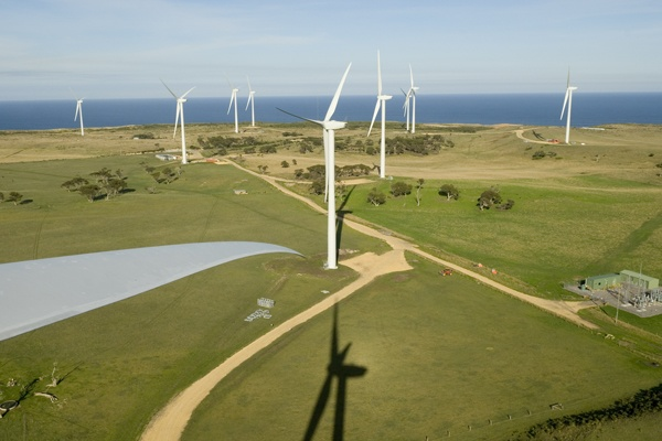 Wind farm, aerial view at Cape Bridgewater, Victoria  #renewable #energy