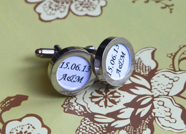 Personalized cufflinks, gift, wedding, groom
