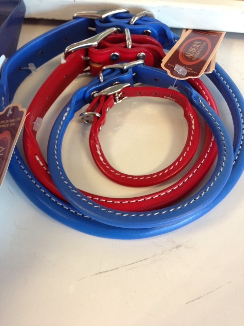 Leather collars and leashes, made in the USA