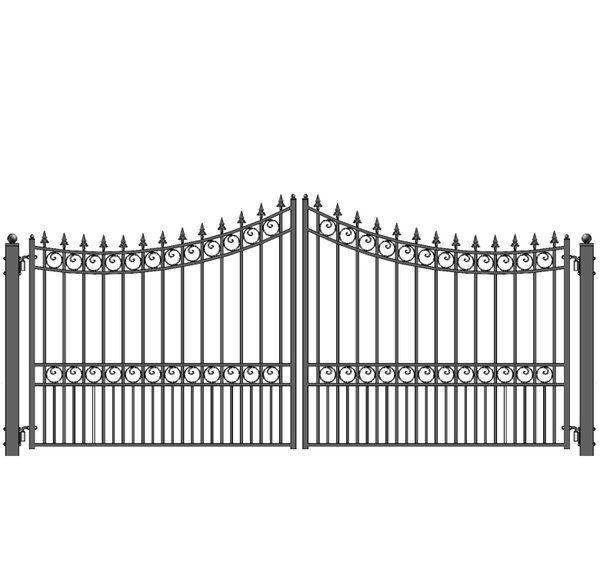 Moscow Steel Dual Swing Driveway Gate Driveway Gate Wrought Iron Driveway Gates Driveway