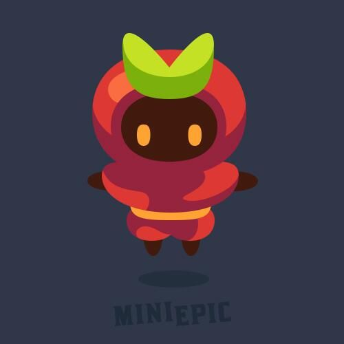 Ninja Character Game Concept Art by MiniEpic  www.MiniEpic.com
