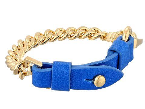 Marc by Marc Jacobs Marc by Marc Jacobs  Bmx Leather Bracelet Electric Blue Lemonade Bracelet for 59.99 at Im in!