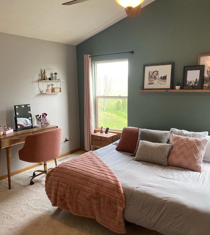gray sage and blush bedroom palette  sage green bedroom