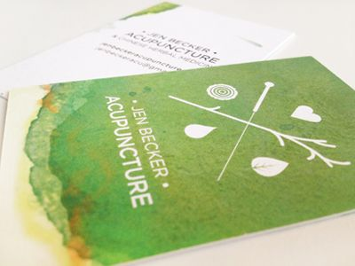 Acupuncture Business Cards by Kristina Zmaic
