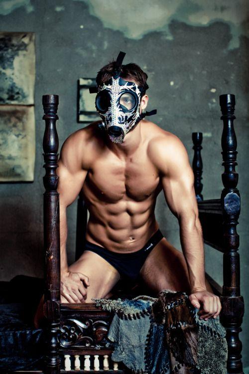 Masked man sex