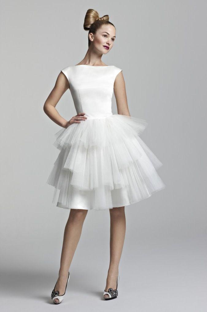 Short Wedding Reception Dress For Bride - Ocodea.com