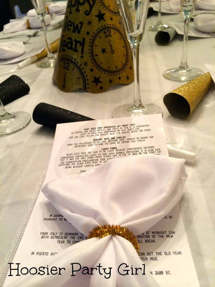 Traditional New Years Eve menu and traditions for luck NYE New Years dinner party