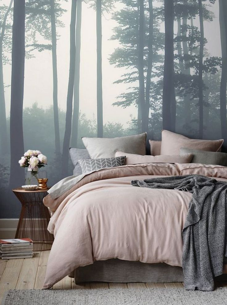 Blush Pink And Grey Bedroom Decor Gorgeous Mural