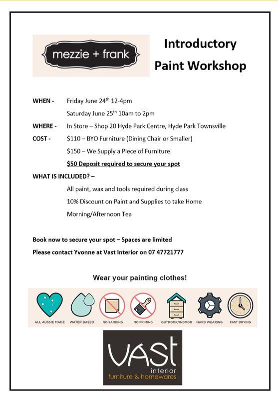 Chalk Paint Workshop at Vast Interior Townsville