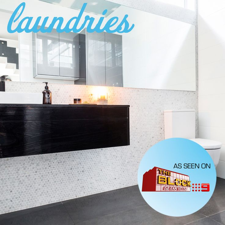 We loved Simon and Shannon's use of our Carrara Bianco Penny Round Mosaic tiles in their laundry on The Block Glasshouse. Do you think they should have won last night? Check out the rest of the tiles here: http://www.beaumont-tiles.com.au/TheBlock.aspx