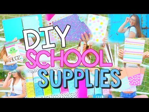 DIY School Supplies! Back To School 2016! - YouTube