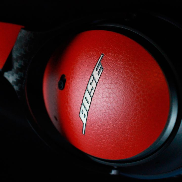 Bose QC25 - Red Leather Skin