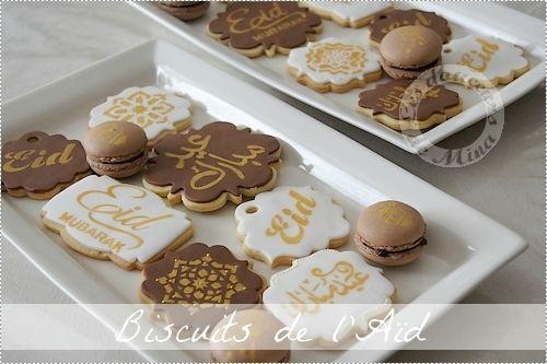 Biscuits vanillés décorés pour l'Aïd