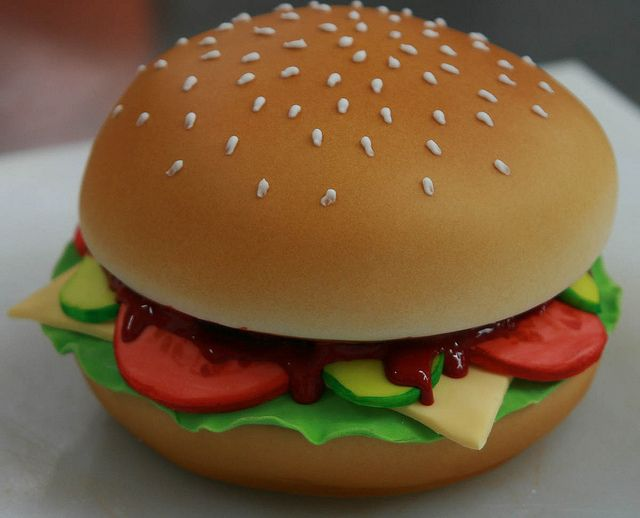 The perfect burger? Nope — actually, it's the perfect birthday cake!