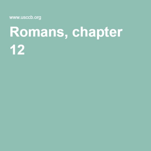 Romans, chapter 12