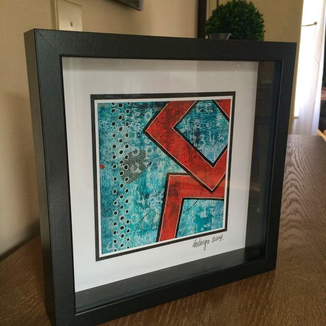 PaperArtsy: GD: Ellen Vargo #3 Abstract Framed Art