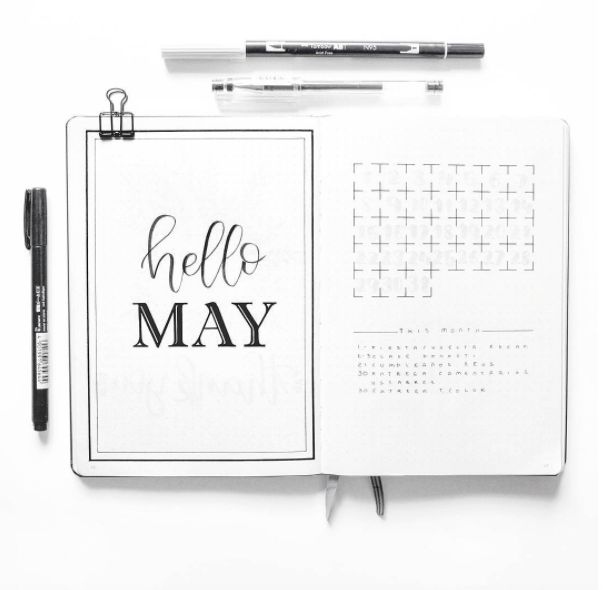 This is the fourth part of the Bullet Journal 2.0 Blog Series. It contains all the information you need to get started laying out our monthly log.