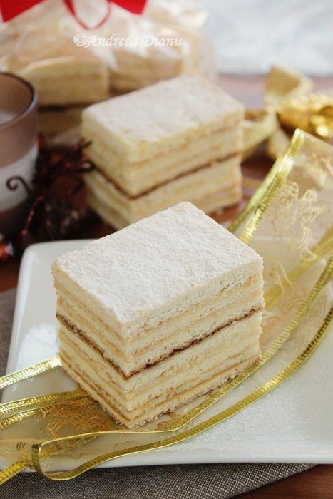 Prajitura cu foi de miere si crema de gris | Pasiune pentru bucatarie