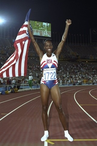 Jackie Joyner-Kersee starred for UCLA in track & field and basketball. She won six Olympic medals in long jump and heptathlon, including three golds. #TitleIX