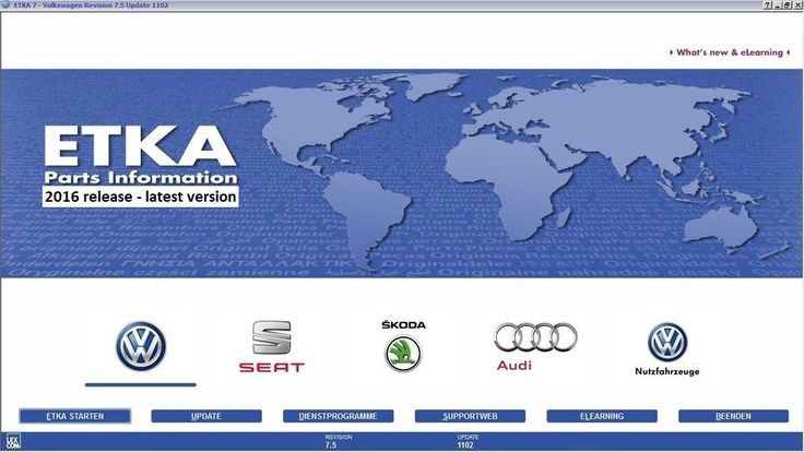 Cool Awesome ETKA 8 & 7.5 Plus 2017 VW Volkswagen Audi Skoda Seat Parts Catalog  2017-2018