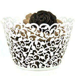 Amazon.com: Mialand(TM) 50 Filigree Little Vine Lace Laser Cut Cupcake Wrapper Liner Baking Cup: Industrial & Scientific