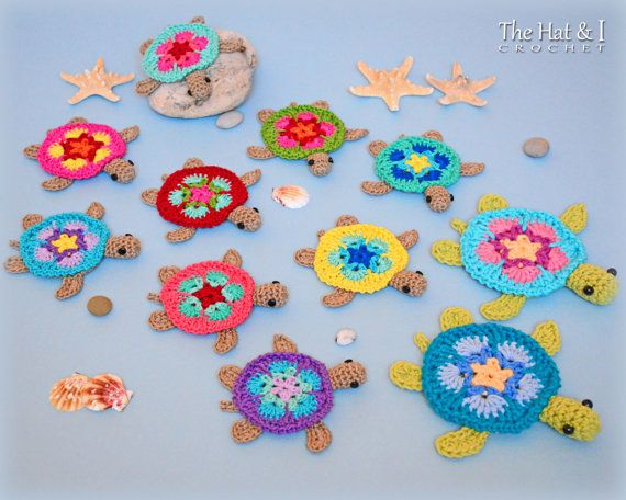CROCHET PATTERN Tiny Turtles crochet turtle par TheHatandI