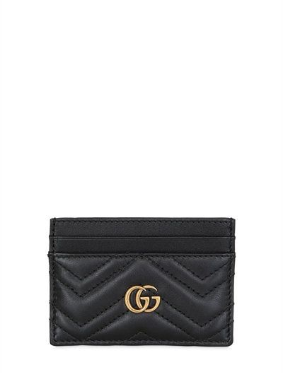 GUCCI - MARMONT 2.0 CREDIT CARD HOLDER - WALLETS - BLACK - LUISAVIAROMA