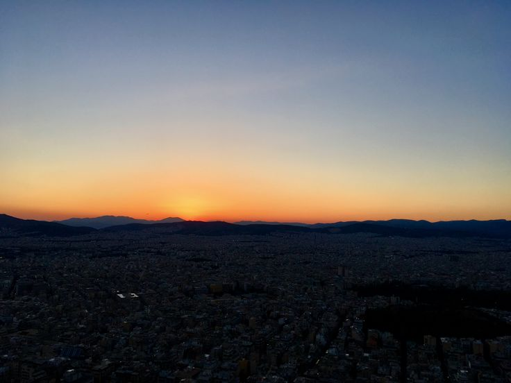 Greece, Sunset in Athens