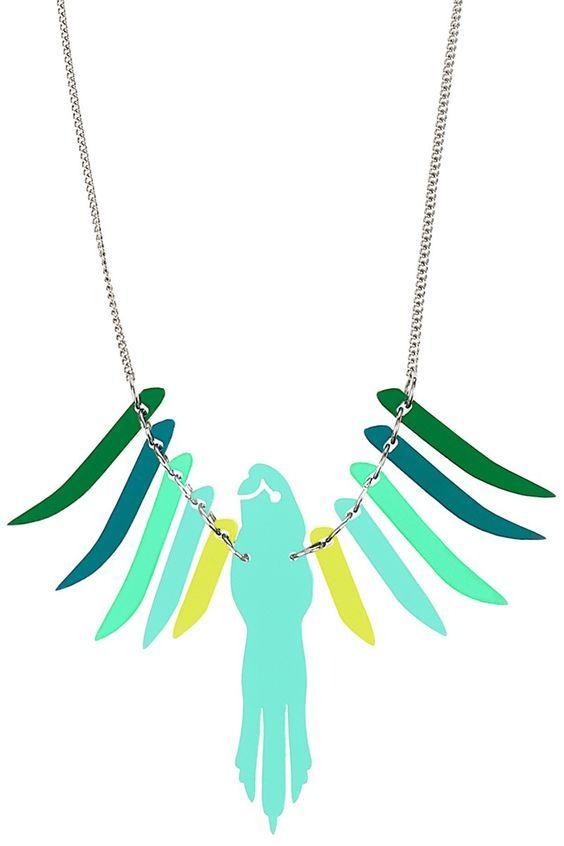 Parakeet Necklace - Aqua Multi £50 - Contemporary 2014