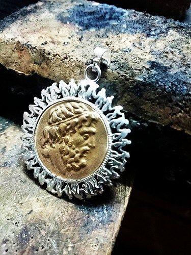 sikke kolye, Hercules Kolye, antika paralar tasarımları, gümüş antika
