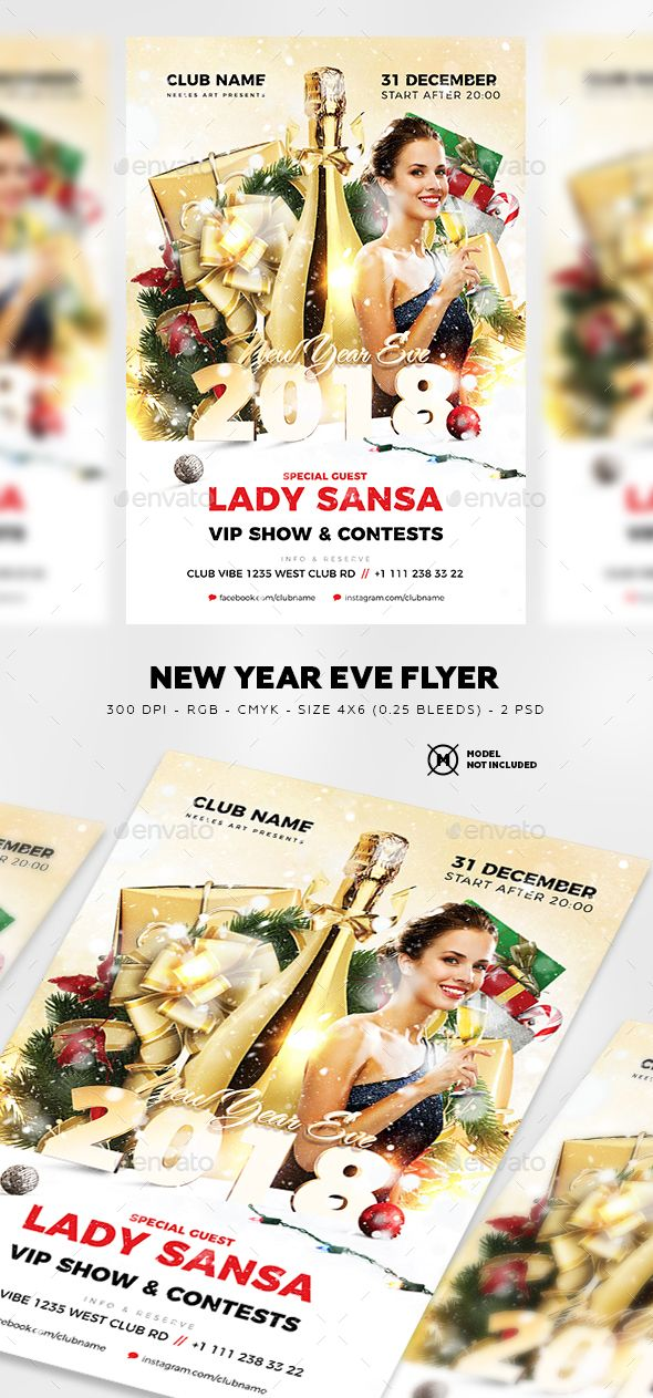 #New Year Eve Flyer - Clubs & Parties #Events