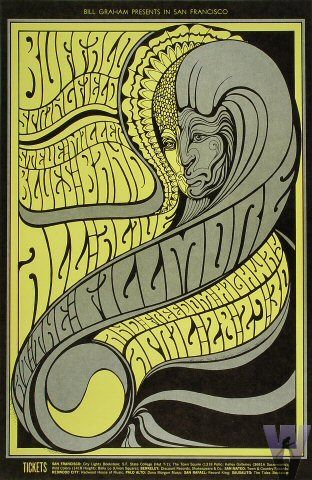 Sixties Posters Fillmore Poster BG-61 Buffalo Springfield