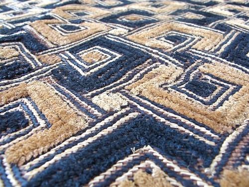 Africa   Shoowa Raffia Textile Detail.   Handmade in the Democratic Republic of Congo
