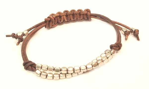how to make a double sliding knot bracelet