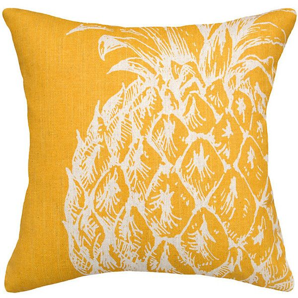 Throw Pillows Ballard Design : Ballard Designs Pineapple Pillow Caramel (?43) liked on Polyvore featuring home, home decor ...