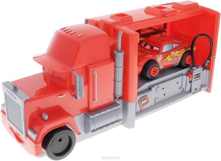 Cars Игровой набор Трейлер Мак и Молния Маккуин + Подарок Пазл Тачки 2