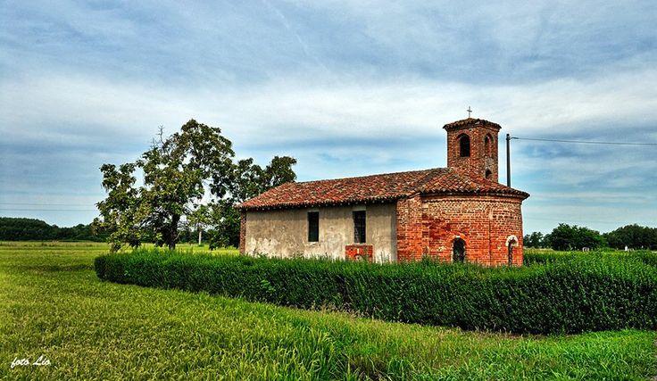 Breme, #chiesa di Santa Maria di Pollicino. #Lomellina #turismo Pic: Leonetto Strambi
