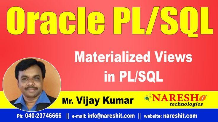 Materialized Views in PL/SQL | Oracle PL/SQL Tutorial Videos | Mr.Vijay ...