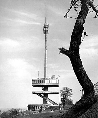 https://www.facebook.com/groups/646767212123012/ Miskolc-Avas TV Tower, Hungary, 72 meters tall, 1963. Authors: Hofer Miklós Vörös and György,