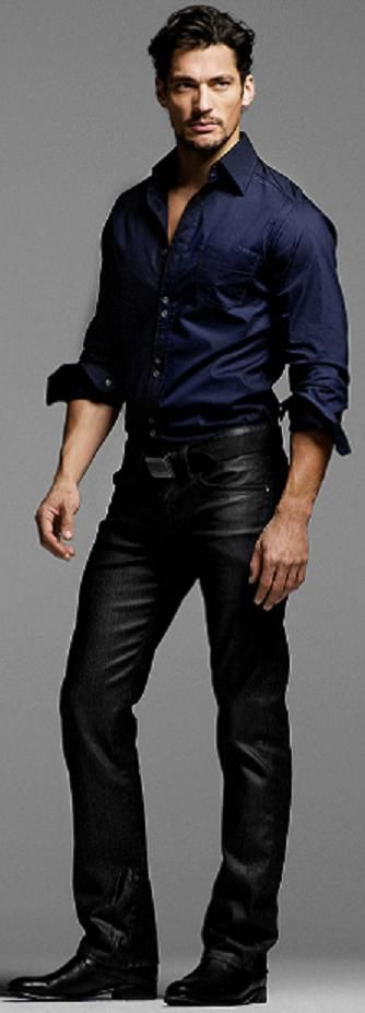 David..in leather pants.....like they needed to up the hotness factor???