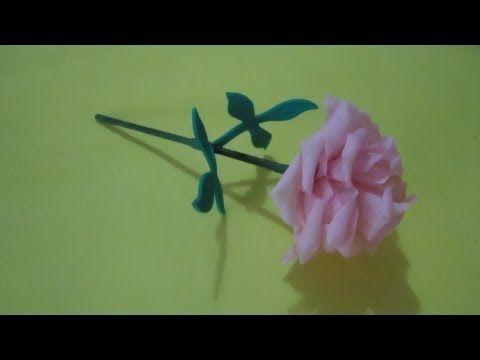 Mini flor de papel crepé