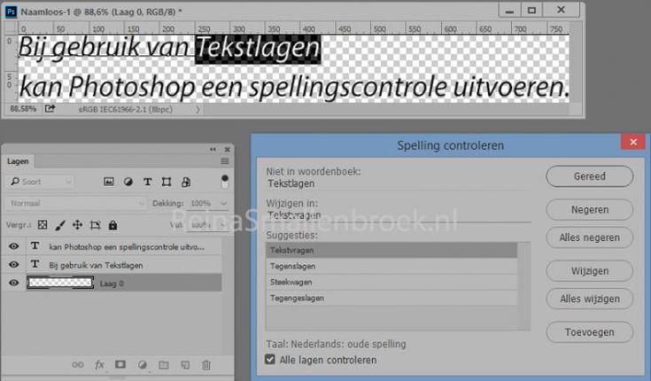 Photoshop Tip van de dag: spellingscontrole
