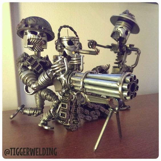 """ ... stuff that highly creative people made from their old car parts ... """