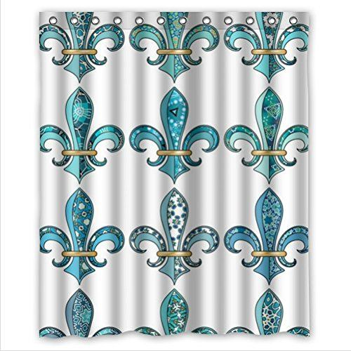 117 best images about fleur de lis home decor on pinterest bathroom accessories sets wall - Fleur de lis shower curtains ...