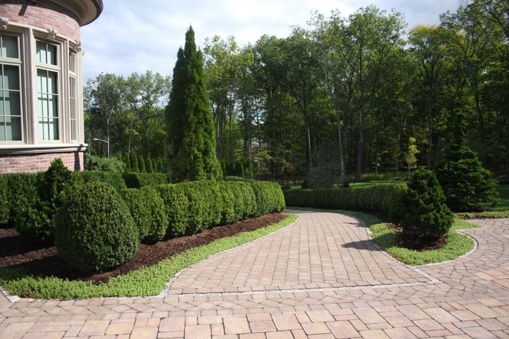 Formal landscape in bergen county nj this unique formal for Formal landscape design