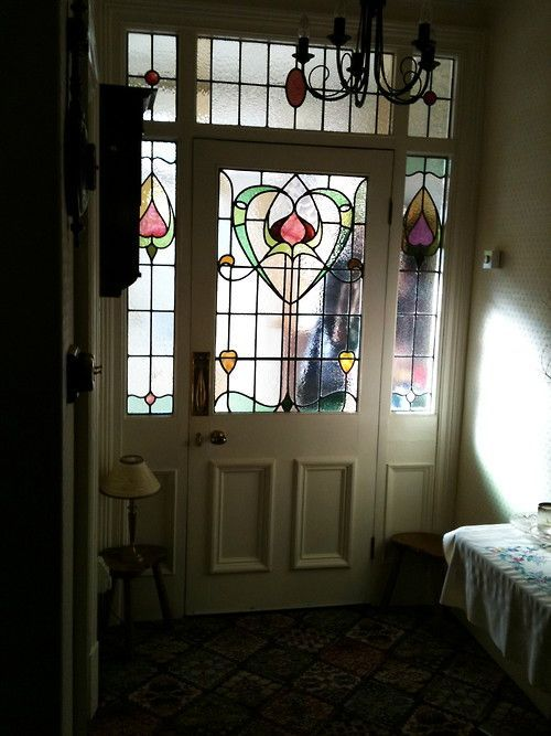Image result for stain glass doors edwardian
