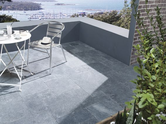 27 best terrasse images on Pinterest Decks, Balconies and Swimming - photo terrasse carrelage gris